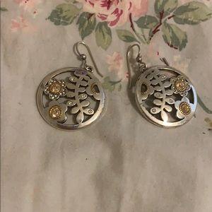 Beautiful Brighton two tone flowered earrings